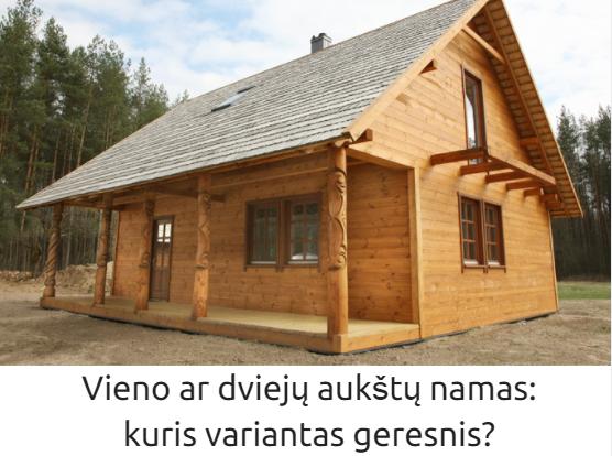 Vieno ar dviejų aukštų namas: kuris variantas geresnis?