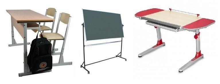 Augantys mokykliniai baldai