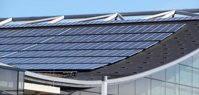 Saulės elektrinės komerciniams pastatams